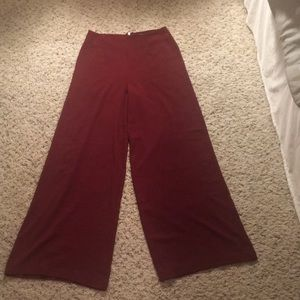 Forever 21 maroon wide leg pants